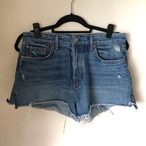 Grlfrnd Cindy High Rise Raw Hem Shorts